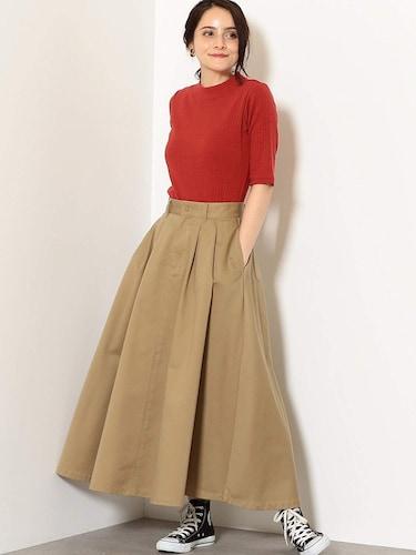 朱赤5分袖カットソー