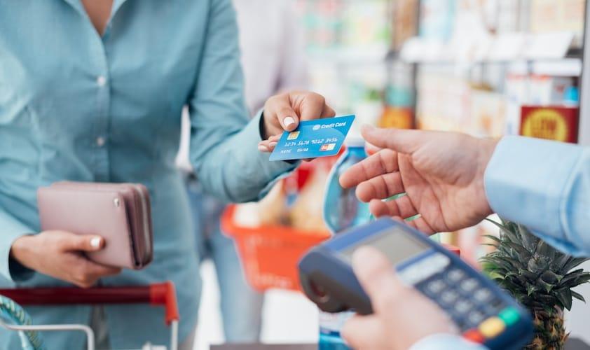 クレジットカードで買い物