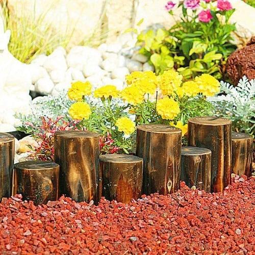 木材を使った花壇