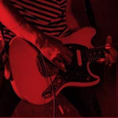 ギターを弾いている手元