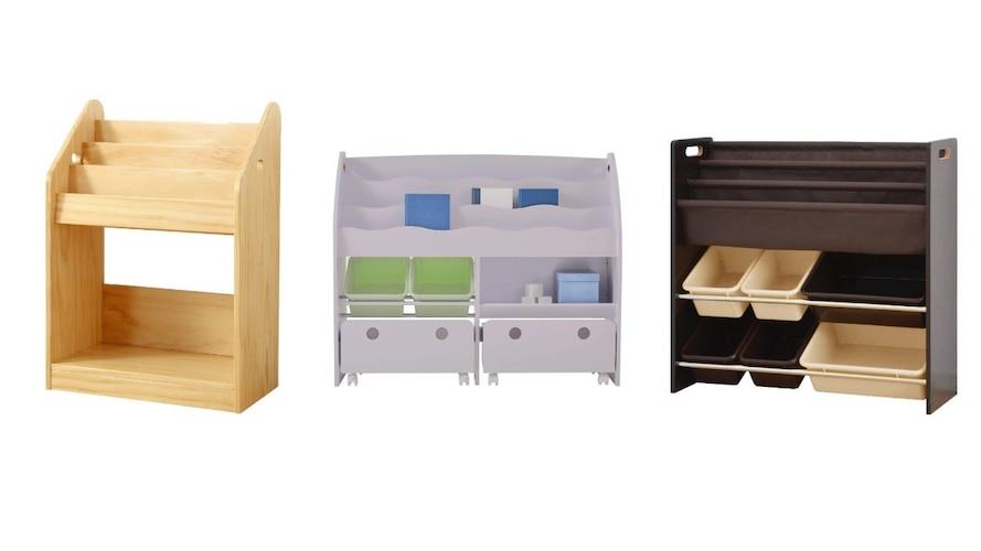 収納|小学校入学前はおもちゃ箱付き、入学後はランドセルが置ける天板付き