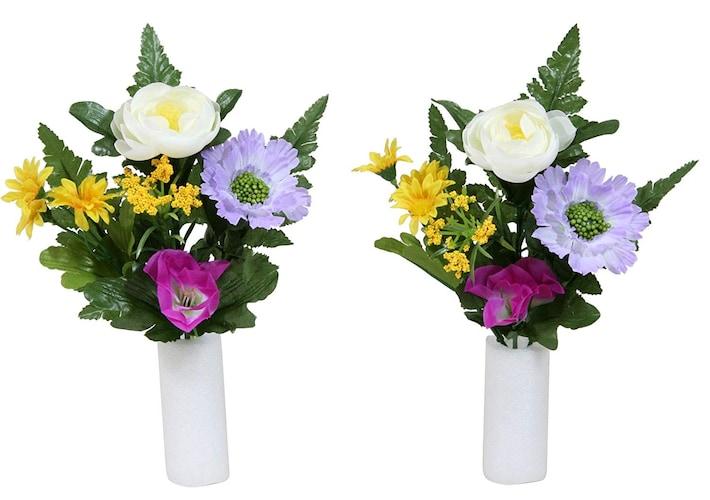 仏花|造花なら水替え不要で手間いらず