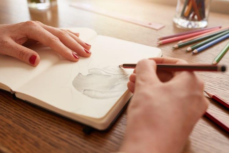クロッキー用紙 鉛筆を使用した線画や練習用に最適