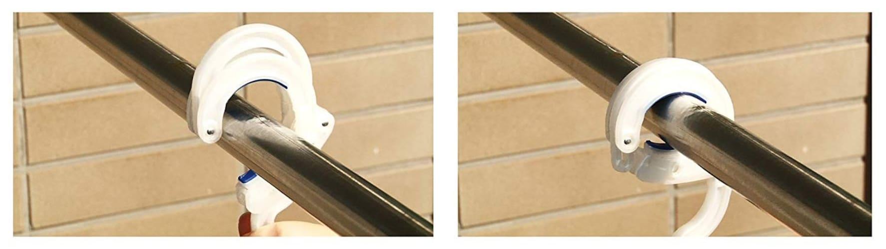 固定力|竿にしっかりひっかかるスライドストッパー付きがおすすめ