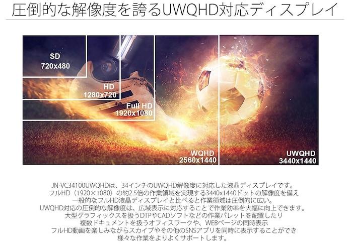 解像度 画質にこだわるなら4K、もしくは実用性のあるUWQHD