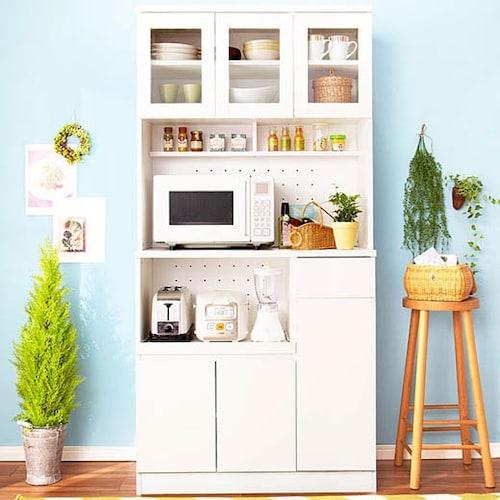 キッチンボード型|電子レンジや炊飯器も収納できる