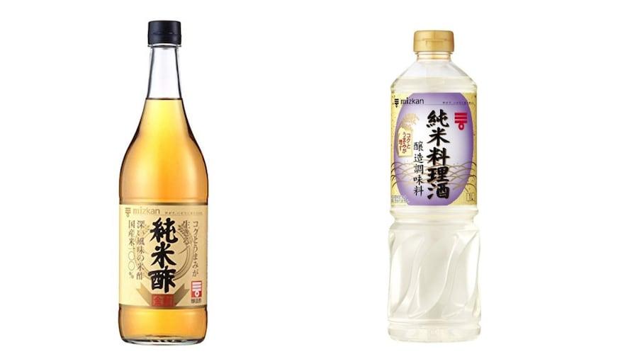 醤油・みりん・料理酒・酢・めんつゆ