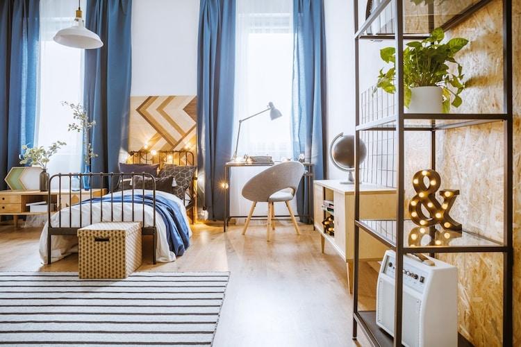 3・低床家具を活用&背の高い家具は奥か手前に配置