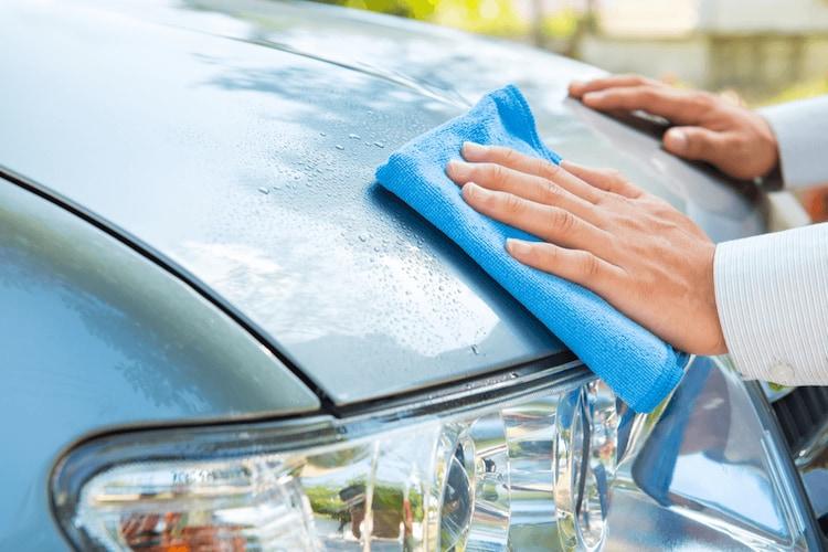 洗車用セームタオルの使い方