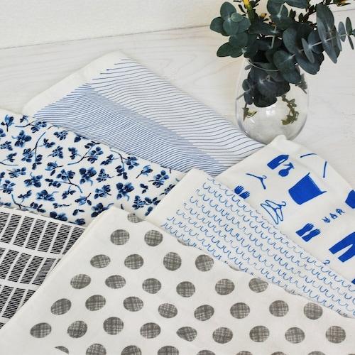 素材|綿、ガーゼ、リネン、無撚糸、ポリエステルの5種類が主流