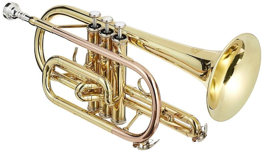 B♭コルネット 音色が柔らかいショートタイプ、明るいロングコルタイプ