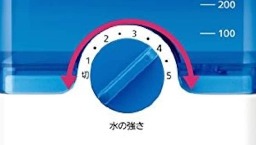 水圧調整 子供や高齢の方など家族で使う場合は、細かく水圧調整できるものだと◎