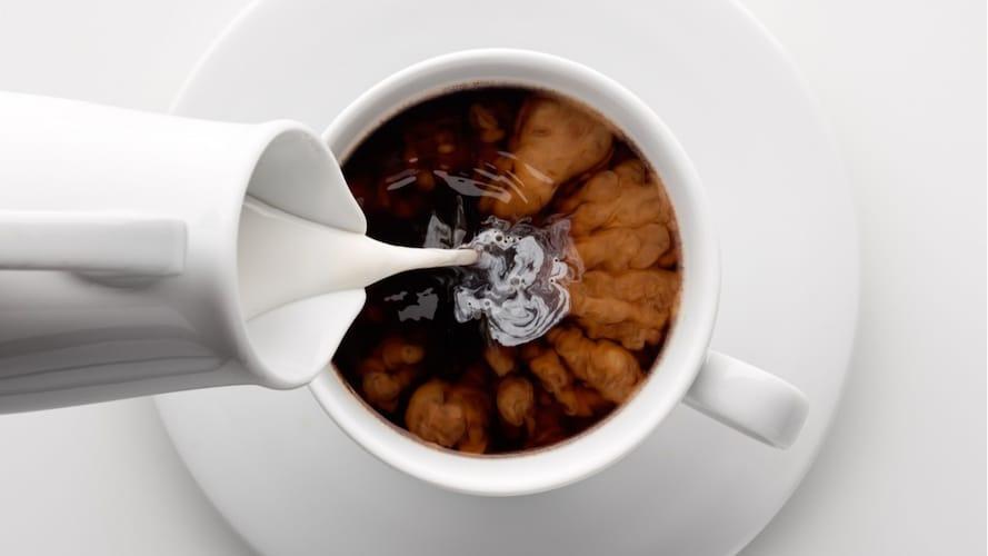 コーヒーフレッシュやミルクは飲むときに!