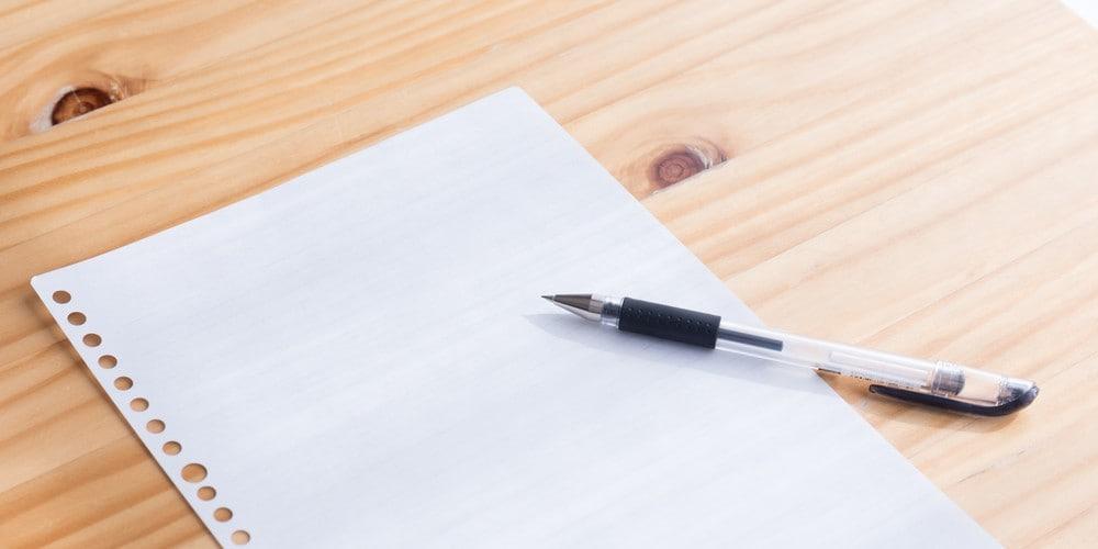 ルーズリーフとの違い|提出書類は要注意!