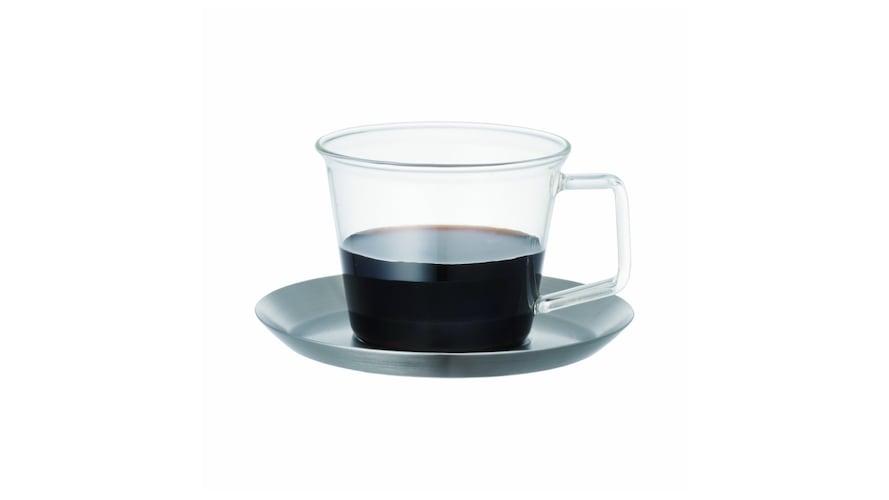 ・ガラス コーヒーや紅茶の色が見えるモダンデザイン