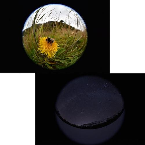 円周魚眼レンズ|ドアスコープを覗いたような円形の映像を再現