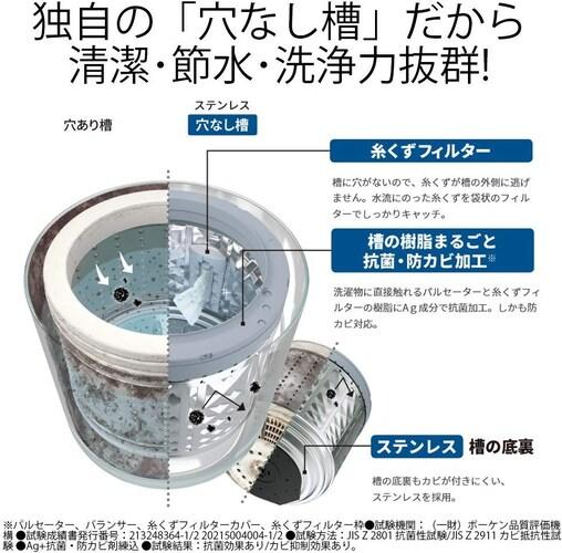 ▼洗濯槽のお手入れ方法