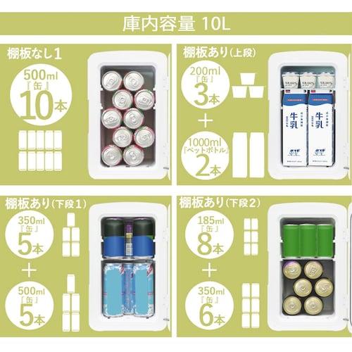 1、容量 500mlペットボトルや350ml缶が何本入るか