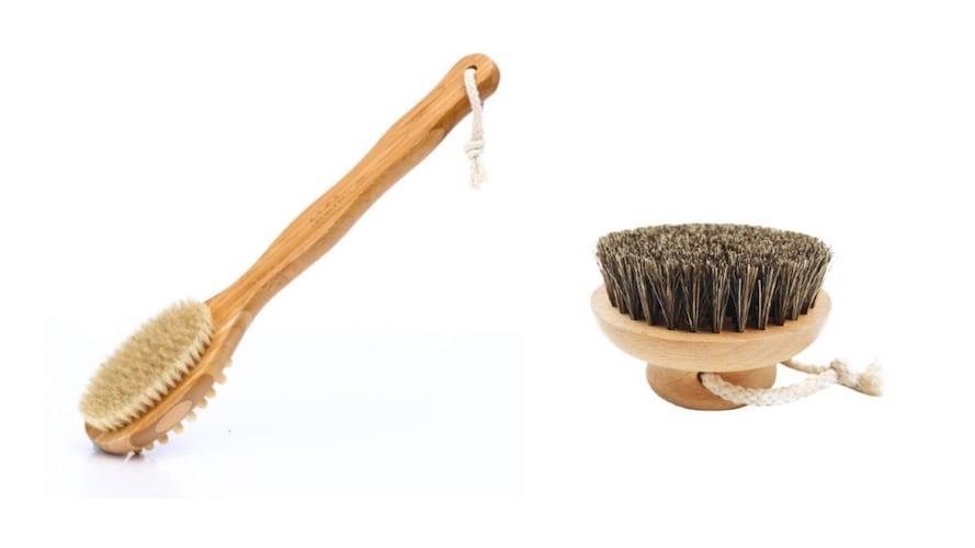 デザイン|背中まで洗いやすい「柄つき」、足裏には「柄なし」が◎