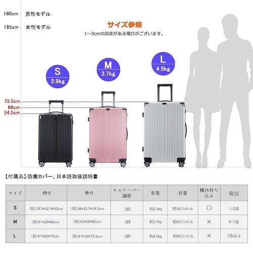 1、スーツケースのサイズ・重さ