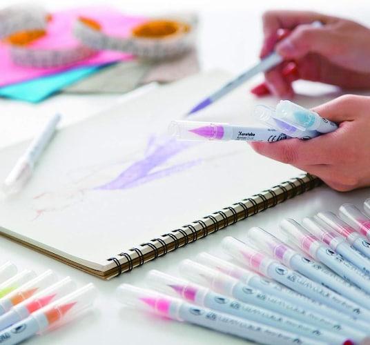 色付き|カラー筆ペンは絵手紙やアートにも使える