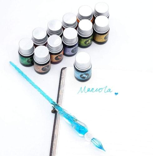 ガラスペンのインクの種類