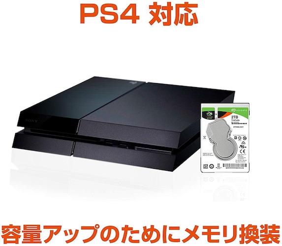 PS4には1TB以上のものを