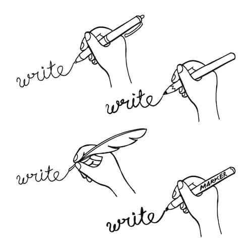 ペン先の太さ|極細の「EF」、細字の「F」、中字の「M」、太字の「B」