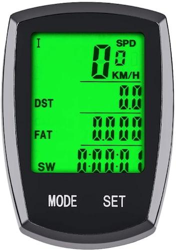 ケイデンス機能はペダルの回転数を確認できる