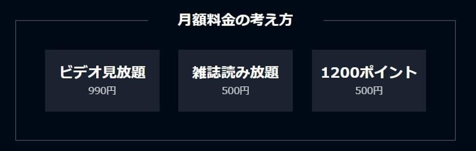 ・利用料|見放題が月々1,990円!