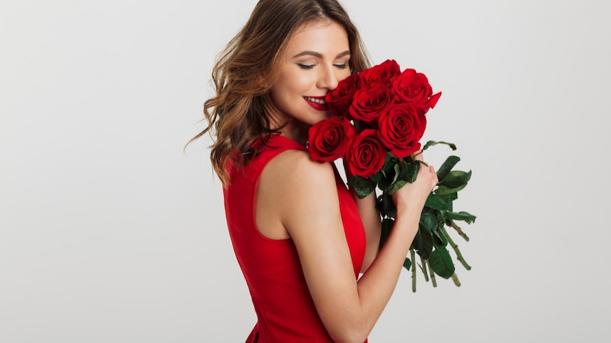 1.バラの花束