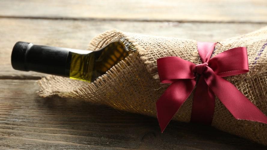 ワインプレゼントのラッピング(包装)