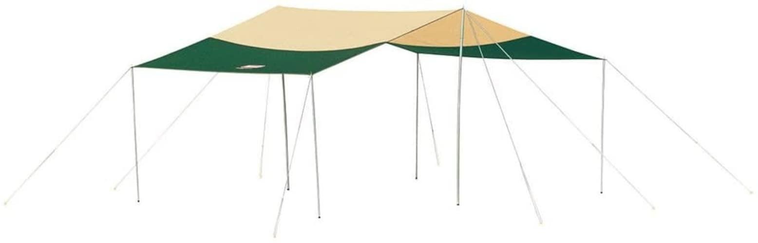▼ワイドな面積を確保できるレクタ・スクエアタープ