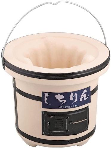 ▼練り物七輪|珪藻土の粉を固めて作る手頃な価格の七輪