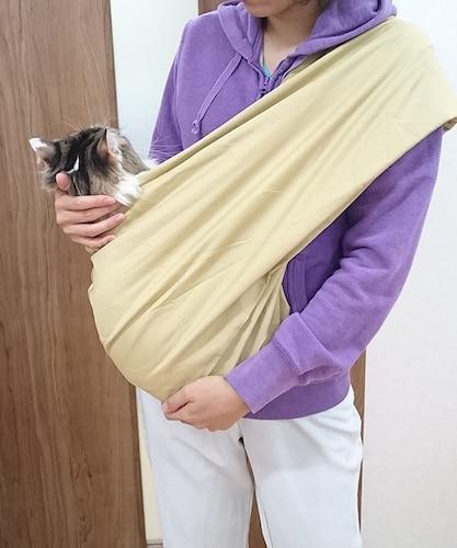 ▼スリングは移動が不安な猫ちゃんに試してみる価値あり