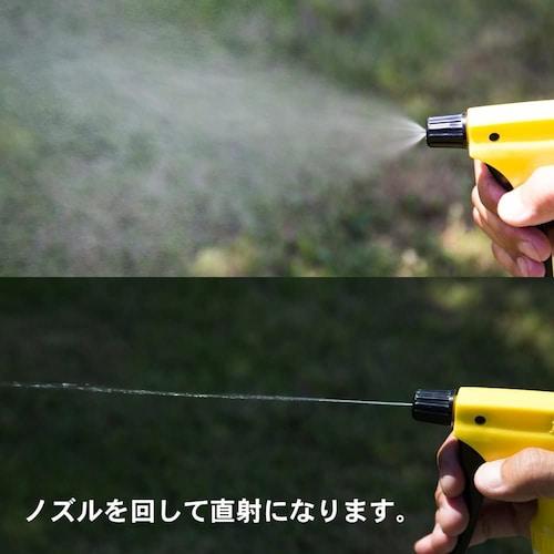 噴霧機能|ノズル調整や逆さにしても出る機能があると便利