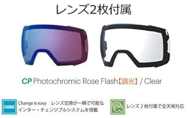 【調光レンズ】紫外線量に応じて色が変わる