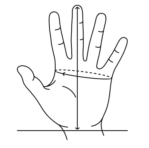 ▼手のサイズの測り方|メジャーやものさしを使おう