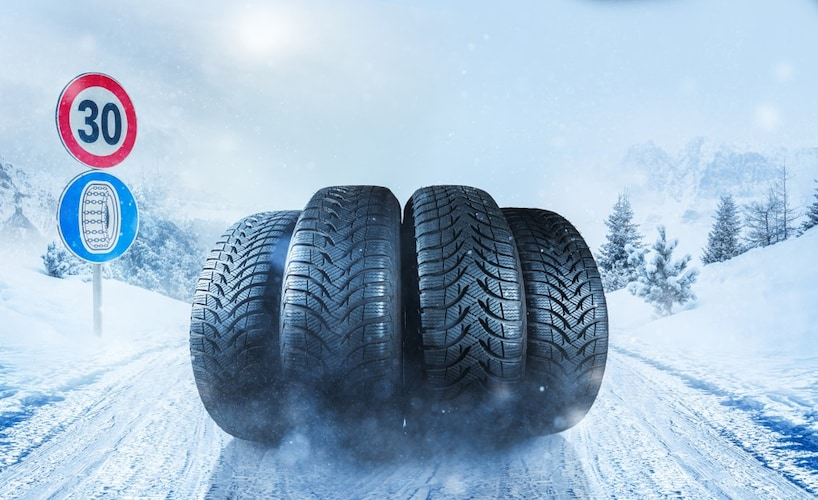 スタッドレスタイヤとは~滑りやすい路面も安全に運転できる~