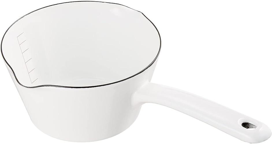 深さ|8cm程度でおかゆなどがまとめて作れるミルクパン、片手鍋が便利
