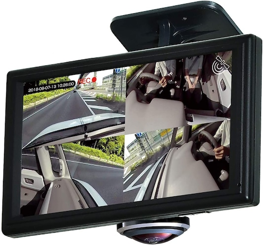 360度監視ができるドライブレコーダー