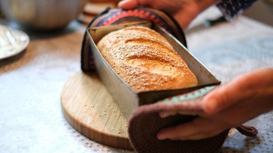 ガスオーブンで作るパンのレシピ