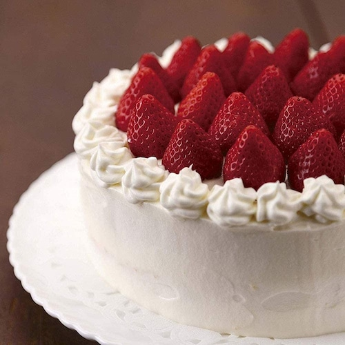 デコレーションケーキは丸型