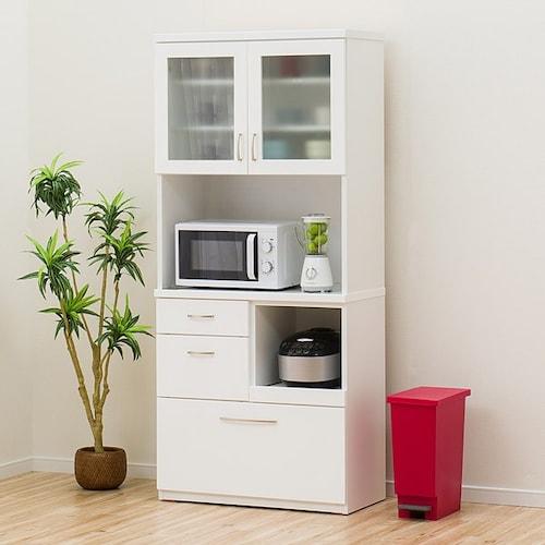 ▼ハイタイプ:家電と食器をたっぷり収納