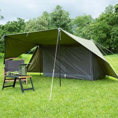 サイズ|幅380×高さ110cmがソロキャンプにはおすすめ!