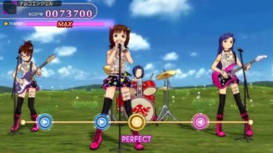 PSP アイドルマスターのプレイ画面