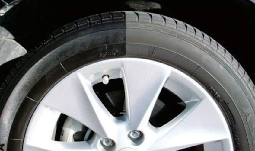 タイヤワックスの効果