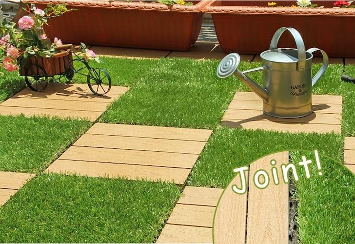 人工芝+タイルのお庭