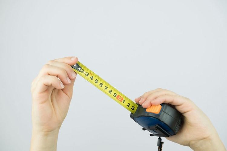 サイズ|事前に養生する範囲を測っておこう
