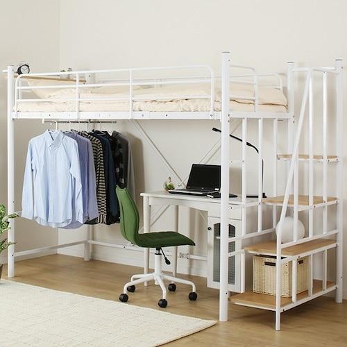 昇降方法|階段タイプは安全性、はしご付きは省スペースが魅力